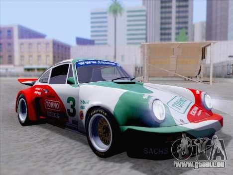 Porsche 911 RSR 3.3 skinpack 1 pour GTA San Andreas vue de dessous