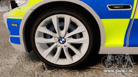 BMW 550d Touring Metropolitan Police [ELS] pour GTA 4 Vue arrière