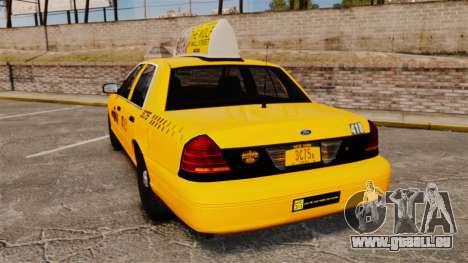 Ford Crown Victoria 1999 NYC Taxi v1.1 für GTA 4 hinten links Ansicht