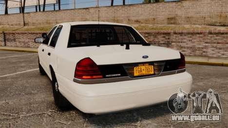 Ford Crown Victoria 1999 Unmarked Police pour GTA 4 Vue arrière de la gauche