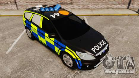 Ford Focus Estate 2009 Police England [ELS] pour GTA 4 Vue arrière