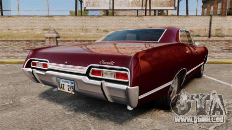 Chevrolet Impala 1967 pour GTA 4 Vue arrière de la gauche