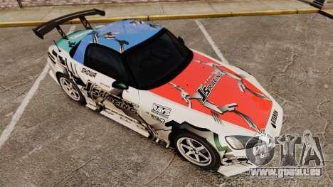 Honda S2000 (AP1) pour GTA 4 vue de dessus