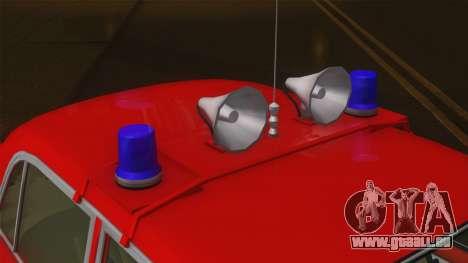 VAZ 21011 Brandschutz für GTA San Andreas Rückansicht