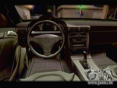 Mercedes SL500 v2 für GTA San Andreas obere Ansicht