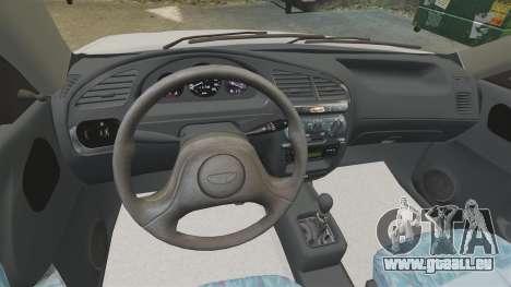Daewoo Lanos S PL 1997 pour GTA 4 Vue arrière