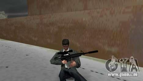 M4 avec le fusil de Sniper GTA Vice City pour la troisième écran