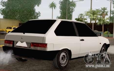 VAZ 2108 Taxi pour GTA San Andreas laissé vue