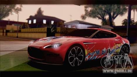 Aston Martin V12 Zagato 2012 [HQLM] pour GTA San Andreas laissé vue