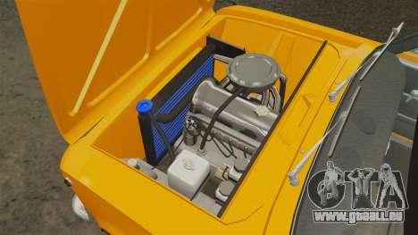 Vaz-2101 tuning pour GTA 4 est une vue de l'intérieur