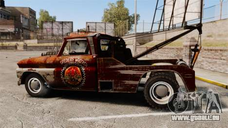 Chevrolet Tow truck rusty Rat rod für GTA 4 linke Ansicht