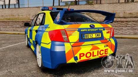 Subaru Impreza WRX STI 2011 Police [ELS] für GTA 4 hinten links Ansicht