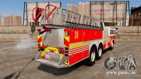 MTL Firetruck MDH1000 LCFR [ELS] pour GTA 4 est une gauche