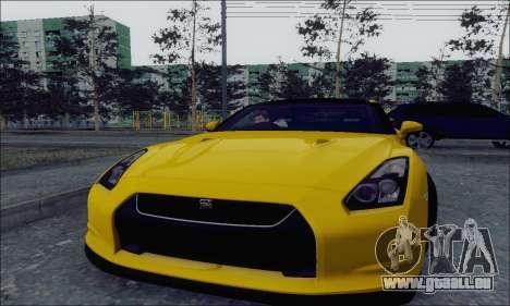 Nissan GT-R Spec V pour GTA San Andreas laissé vue
