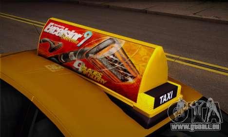 Declasse Premier Taxi pour GTA San Andreas vue de droite