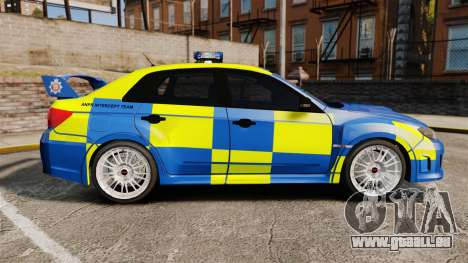Subaru Impreza WRX STI 2011 Police [ELS] für GTA 4 linke Ansicht