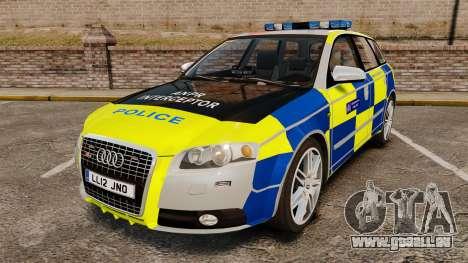 Audi S4 Avant Metropolitan Police [ELS] für GTA 4
