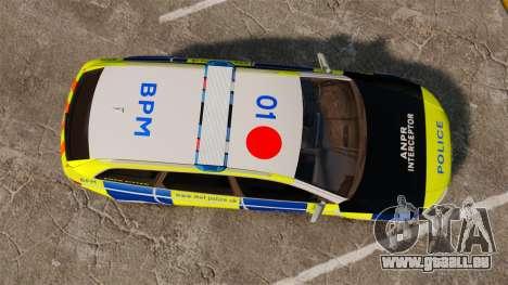 Audi RS6 Avant Metropolitan Police [ELS] pour GTA 4 est un droit