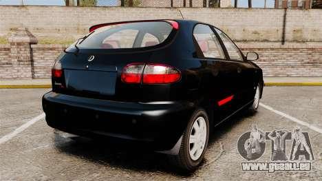 FSO Lanos Plus 2007 Limited Version pour GTA 4 Vue arrière de la gauche