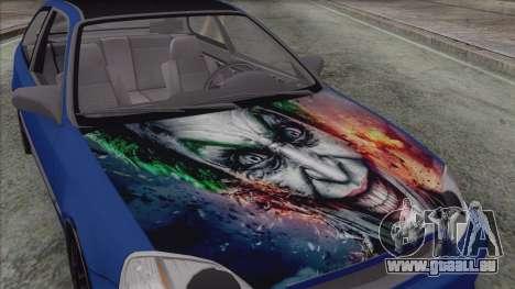 Honda Civic Tuning pour GTA San Andreas sur la vue arrière gauche