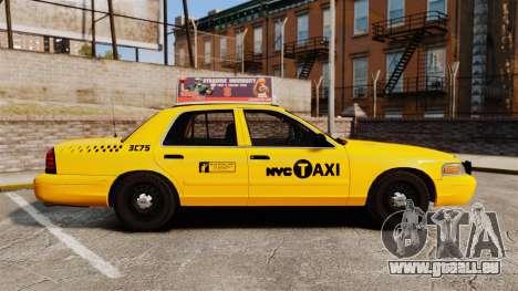 Ford Crown Victoria 1999 NYC Taxi v1.1 für GTA 4 linke Ansicht