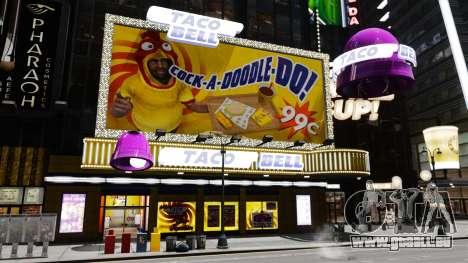 Manger McDonald ' s et Taco Bell pour GTA 4 cinquième écran