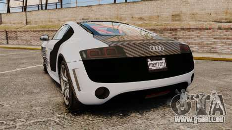 Audi R8 GT Coupe 2011 Drift pour GTA 4 Vue arrière de la gauche