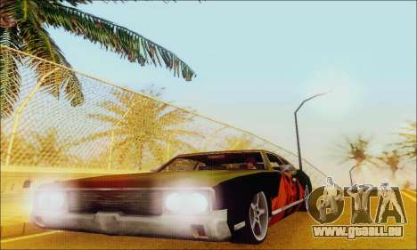 Modified Sabre Low pour GTA San Andreas vue de côté