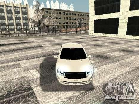 Vaz 2190-1119 pour GTA San Andreas vue intérieure