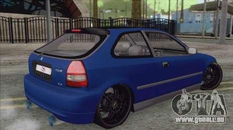 Honda Civic Tuning pour GTA San Andreas laissé vue