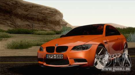 BMW M3 E92 2008 Vossen pour GTA San Andreas vue de droite