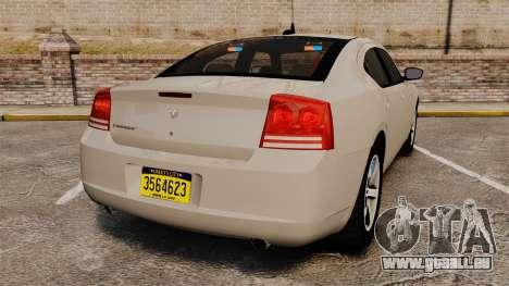 Dodge Charger Unmarked Police [ELS] pour GTA 4 Vue arrière de la gauche