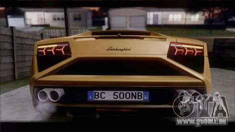 Lamborghini Gallardo LP560-4 Coupe 2013 V1.0 pour GTA San Andreas sur la vue arrière gauche
