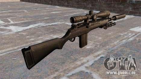 Le fusil semi-automatique M14 pour GTA 4 secondes d'écran
