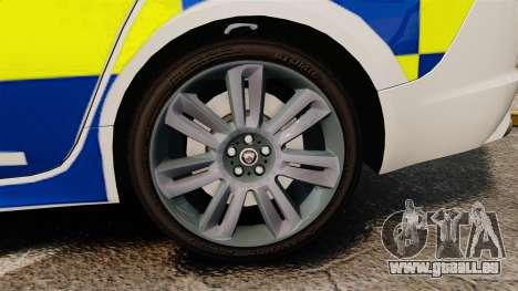 Jaguar XFR 2010 Police Marked [ELS] für GTA 4 Rückansicht