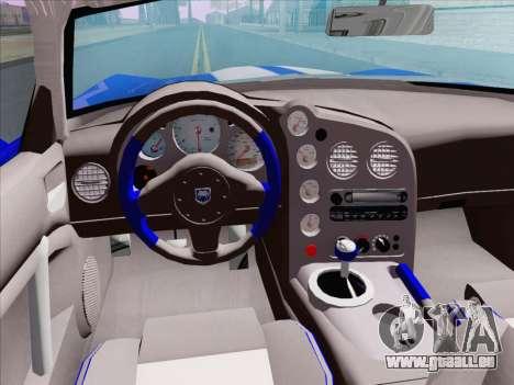 Dodge Viper SRT-10 Coupe pour GTA San Andreas vue de côté
