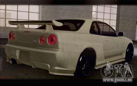 Nissan Skyline R34 Z-Tune pour GTA San Andreas laissé vue