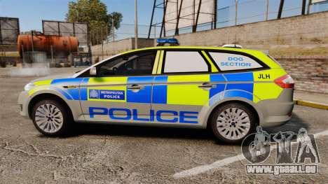 Ford Mondeo Metropolitan Police [ELS] für GTA 4 linke Ansicht