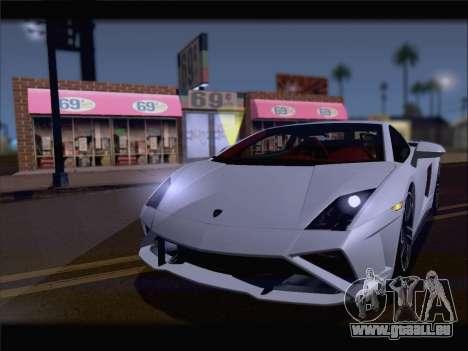 Lamborghini Gallardo 2013 pour GTA San Andreas sur la vue arrière gauche