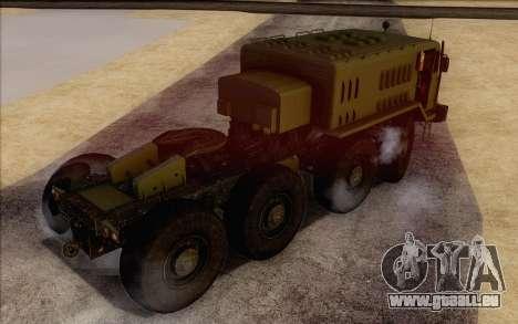 535 Militaires MAZ pour GTA San Andreas laissé vue
