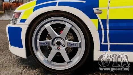 Mitsubishi Lancer Evolution IX Police [ELS] für GTA 4 Rückansicht