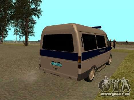 GAZ Police Sable pour GTA San Andreas vue de droite