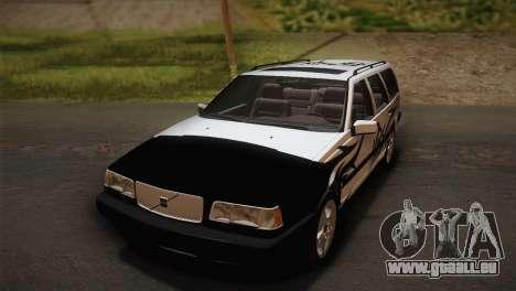 Volvo 850 Estate Turbo 1994 pour GTA San Andreas vue arrière