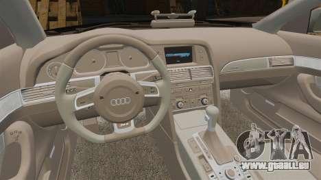 Audi RS6 Avant Metropolitan Police [ELS] pour GTA 4 est une vue de l'intérieur