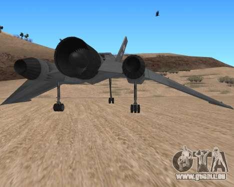 StarGate F-302 pour GTA San Andreas vue de droite