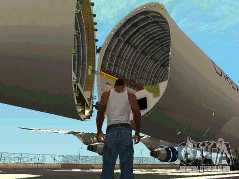 Boeing-747 Dream Lifter pour GTA San Andreas vue intérieure