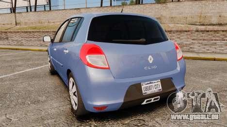 Renault Clio III Phase 2 pour GTA 4 Vue arrière de la gauche