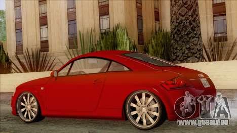 Audi TT 1.8T pour GTA San Andreas laissé vue