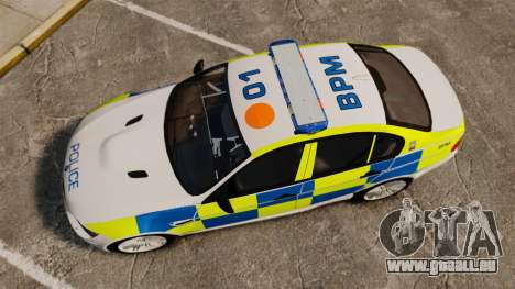 BMW M3 British Police [ELS] für GTA 4 rechte Ansicht