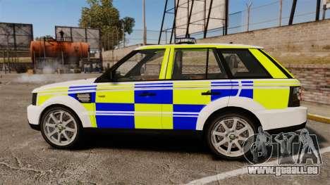 Range Rover Sport Metropolitan Police [ELS] pour GTA 4 est une gauche